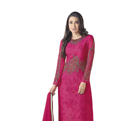Indian Women Designer Party wear Pink Anarkali Salwar Kameez
