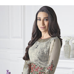 Indian Women Designer Party wear Gray Anarkali Salwar Kameez