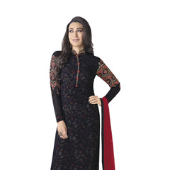 Indian Women Designer Party wear Black Anarkali Salwar Kameez