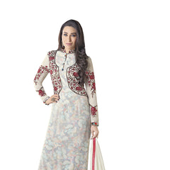 Indian Women Designer Party wear White Anarkali Salwar Kameez
