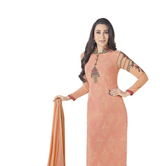 Indian Women Designer Party wear Orange Anarkali Salwar Kameez