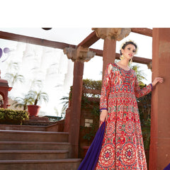 Indian Women Designer Party wear Red Anarkali Salwar Kameez