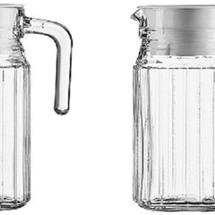 Serving Crystal Juice/Water Glass Jug, Pitcher 500 ml, 2-Piece, WITH LID
