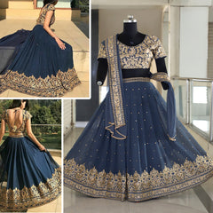 Gray Colour Latest Lehenga Choli