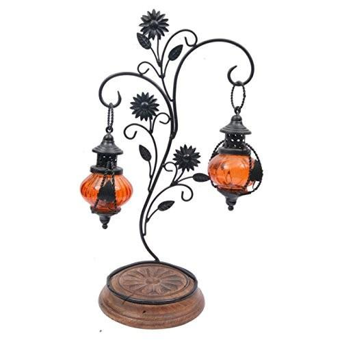 Desi Karigar Double lantern Hanging Candle Holder With Stand