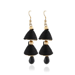 Aradhya Designer Black Thread Earrings for Women and Girls