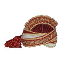 Men Turban For Wedding Royal Maharaja Raw Silk  Pagadi