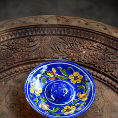 Blue Yellow Flower Incense Holder