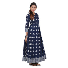 Awesome Women's Blue Printed Kurta