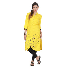 Awesome Women's Yellow Kurta