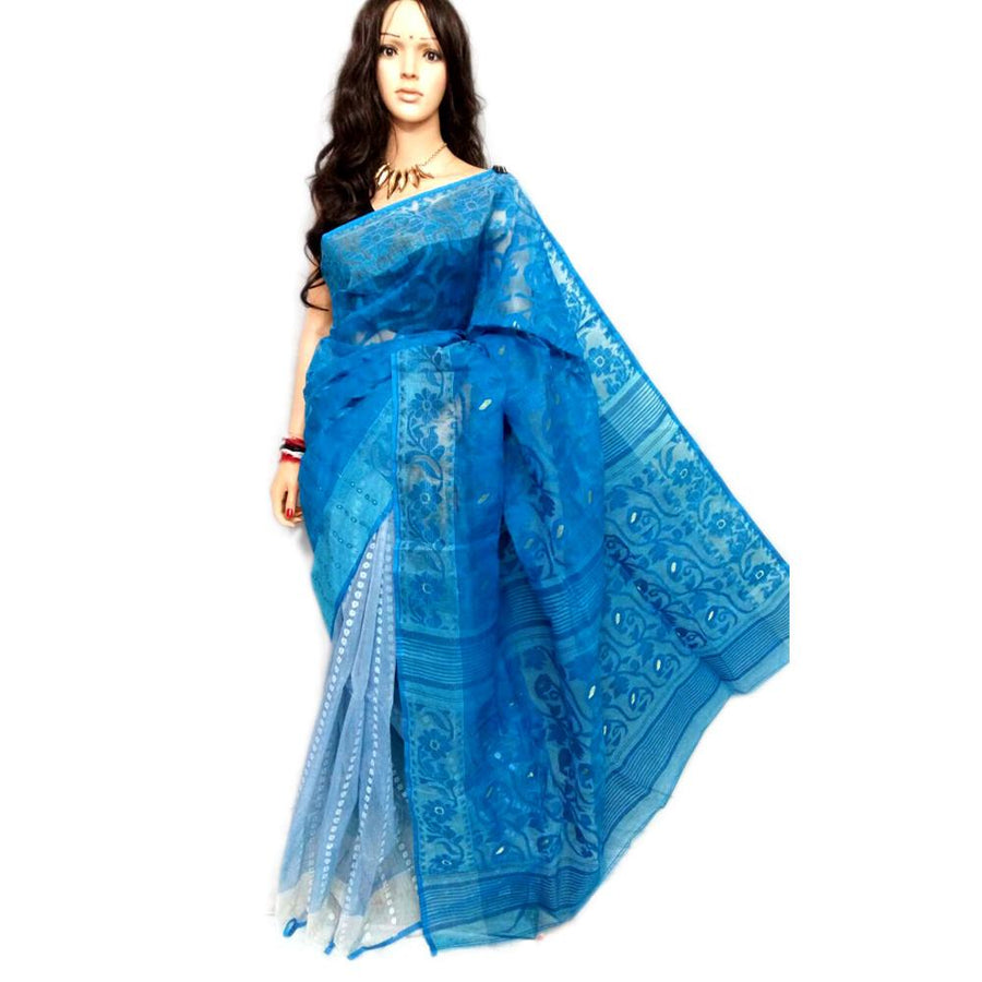 Jamdani Saree- Blue