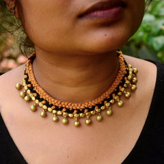 Rust Choker Dhokra Necklace