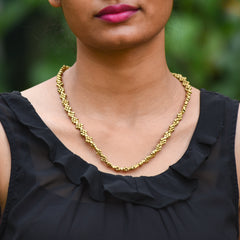 Dhokra Necklace Interwine