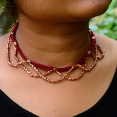 Dhokra Necklace Blush