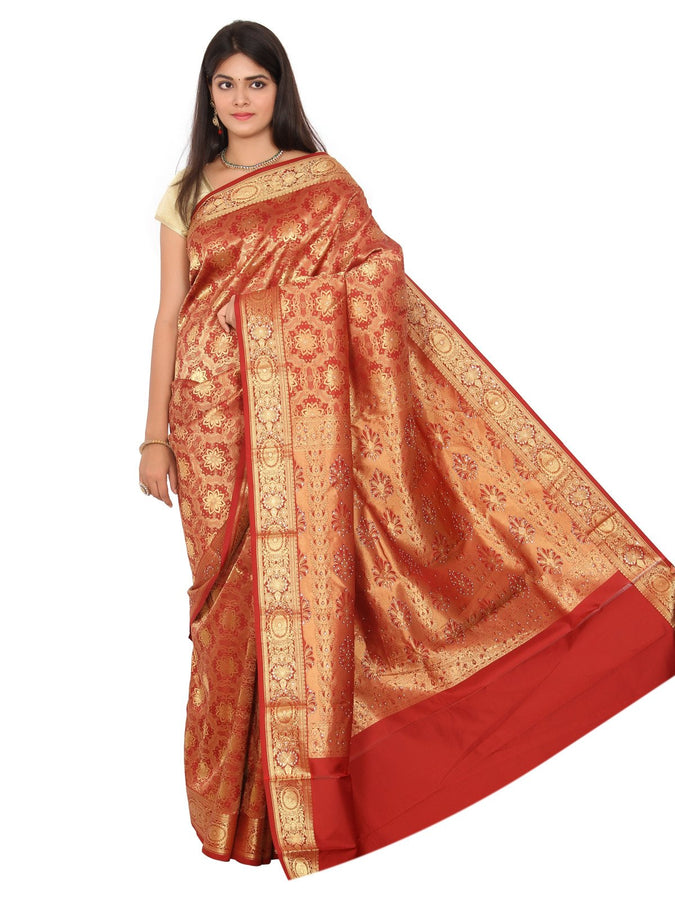 Royal Kanchipuram South Indian Pure Silk Sarees Brocade