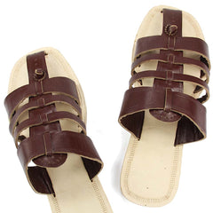Royal look brown upper belts kolhapuri chappal
