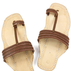 Good looking brown upper kolhapuri chappal