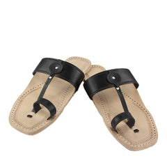 Beautiful black belt kolhapuri chappal for men
