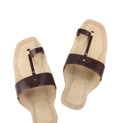 Awesome black six laces cross kolhapuri chappal