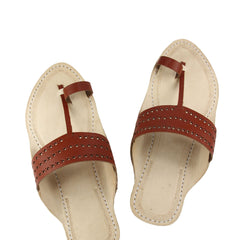 Lovely triangular radish belt kolhapuri chappal for men