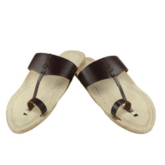 Delightful triangular brow belt kolhapuri chappal for men