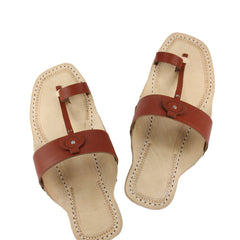Wonderful brow belt kolhapuri chappal for men