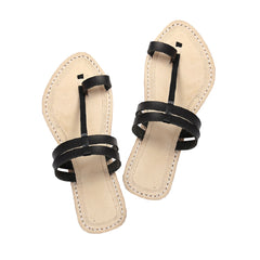 Gorgeous double lace ladies chappal with flat heel