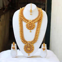 Traditional White Kundan Long Haram Set