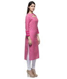 Laabha Women Cotton Printed Fancy Straight Kurti
