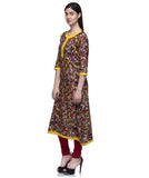 Laabha Women Multi Cotton Printed A-Line Kurti