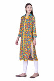 Laabha Women Multicoloured Geometric Pattern All Over Print Straight Kurti