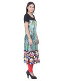 Laabha Women Straight Kurta With Beautiful Indian Motif On The Border And Solid Yoke