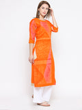 Laabha Women'S Front Button Straight Kurti