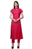 Laabha Women Embroided Embellished Straight Kurti