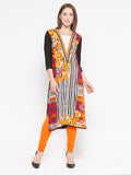 Laabha Women'S Printed Embellished  Straight Kurti