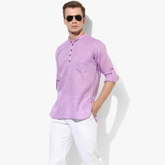 Men's Purple Casual Kurta