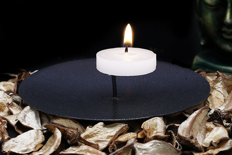 Decorative Candle Stand - Black (Candle Not Included)