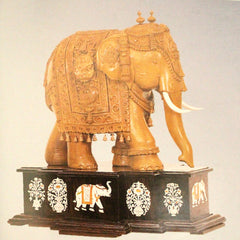 Carved Elephant with rosewood base