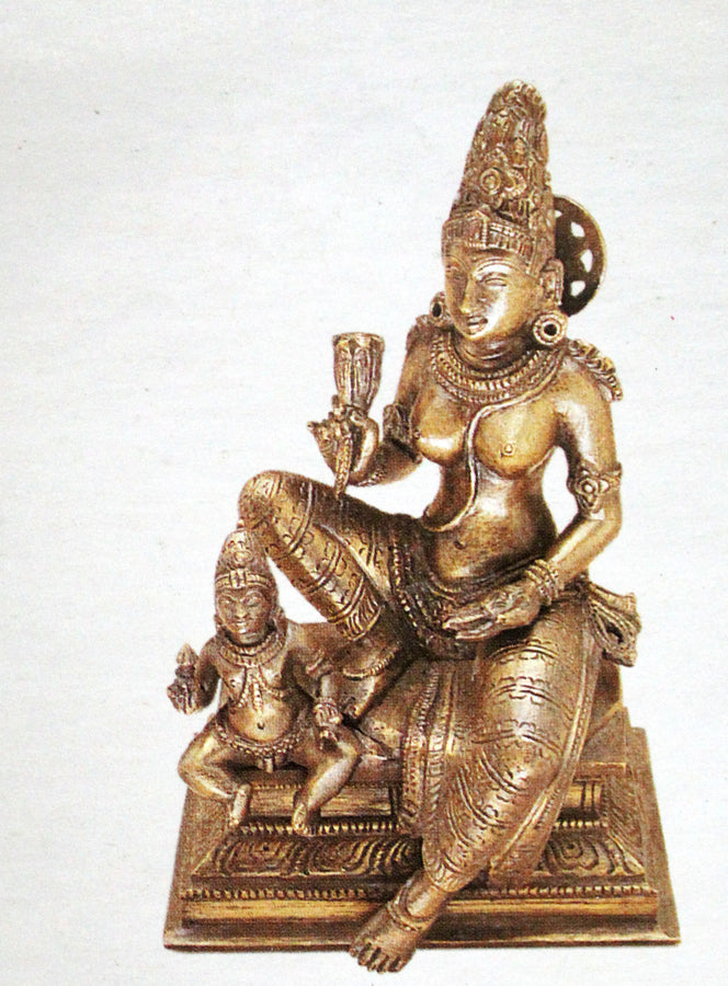 Parvathi with subramanya