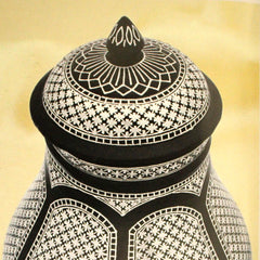 Vase with lid phoolzadi work