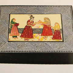 Painted mughal box tarkashi work