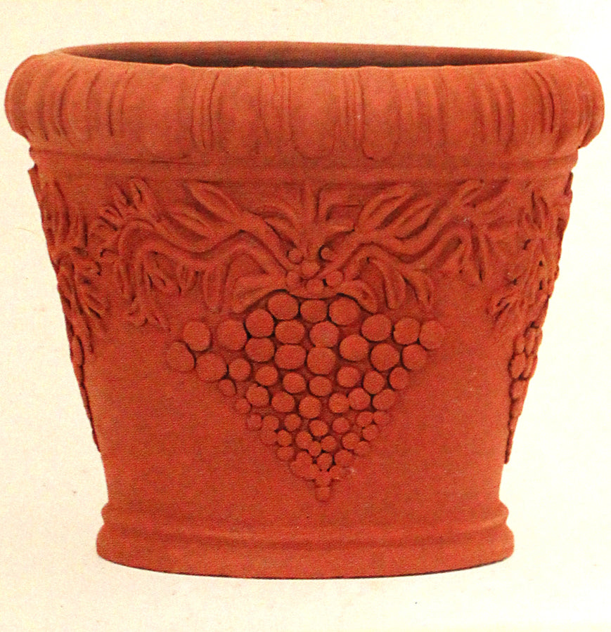 Pot with grape design