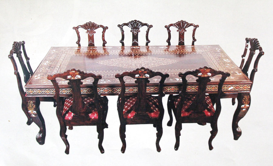 R.W.Floral dinning table with elephant design