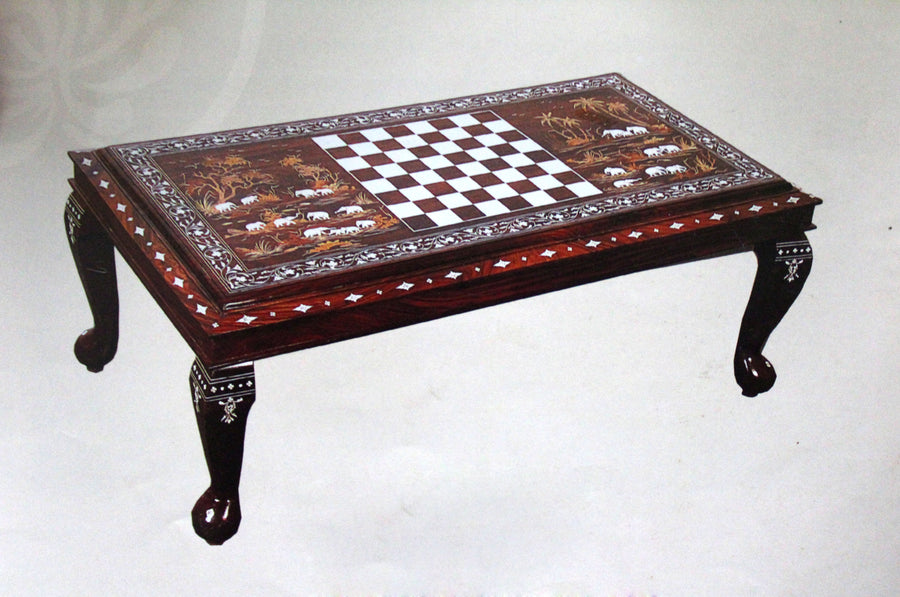 Rectangular table chess& elephnat table