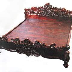 Carved cot
