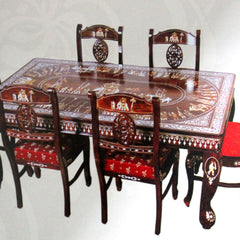 R.W.Dinning table with 6 chairs dasara design