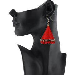 E-streetshop Creation Designer Red Thread Jhumki Earrings for Women and Girls
