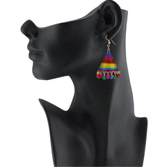 E-streetshop Creation Designer Multi Colour Thread Jhumki Earrings for Women and Girls