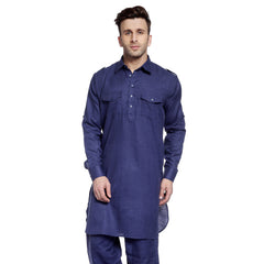 Navy Casual Pathani