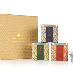 Octavius Octavius Heritage Collection Gift Pack of 3 Classic Green Teas with Tea Infuser